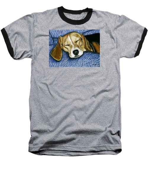 Sleeping Beagle Baseball T-Shirt