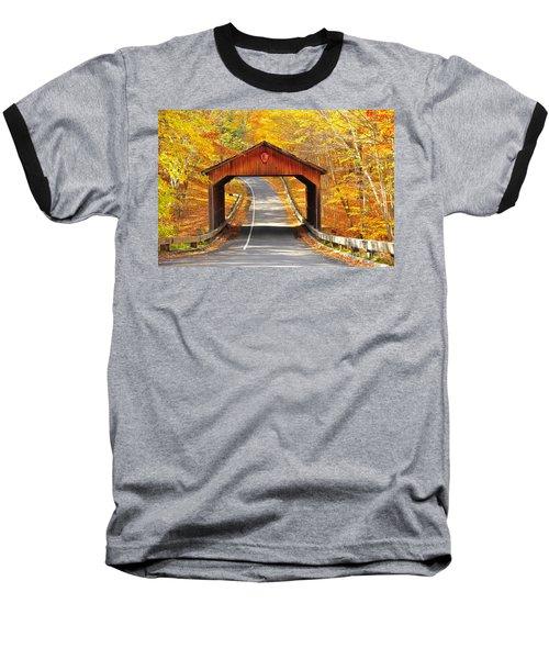 Sleeping Bear National Lakeshore Covered Bridge Baseball T-Shirt by Terri Gostola
