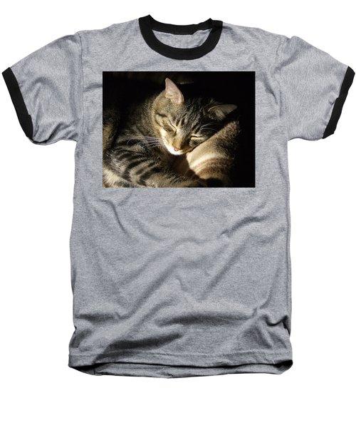 Sleeping Beauty Baseball T-Shirt by Leslie Manley