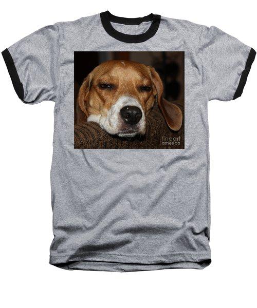 Sleepy Beagle Baseball T-Shirt by John Telfer