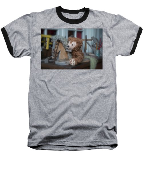 Baseball T-Shirt featuring the photograph Sleepy Cowboy Bear by Thomas Woolworth