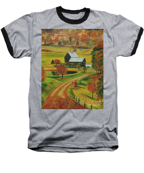 Sleepy Hollow Farm Baseball T-Shirt by Julie Brugh Riffey