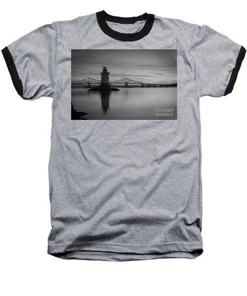 Sleepy Hollow Lighthouse Bw Baseball T-Shirt