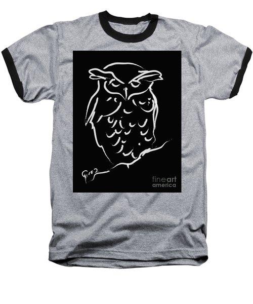 Sleepy Owl Baseball T-Shirt