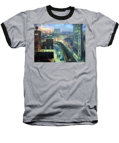 Sloan's The City From Greenwich Village Baseball T-Shirt