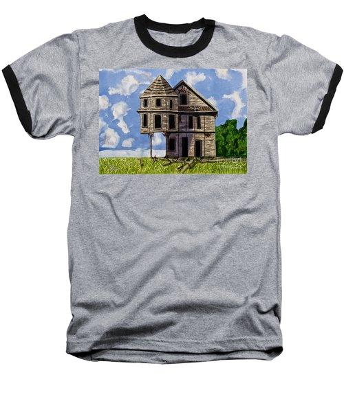 Slumber A Chance To Dream Watercolor Art Prints Baseball T-Shirt by Valerie Garner