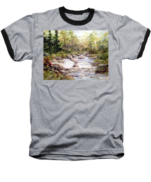 Small Falls In The Forest Baseball T-Shirt by Dorothy Maier