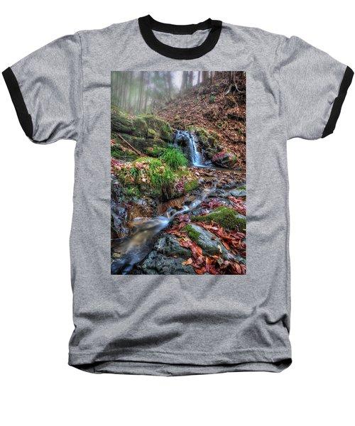 Small Fog Waterfall Baseball T-Shirt