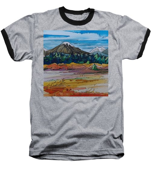 Small Sunriver Scene Baseball T-Shirt