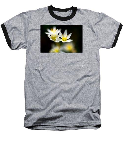 Small White Flowers Baseball T-Shirt