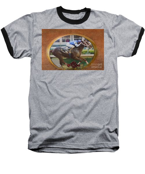 Smarty Jones Baseball T-Shirt