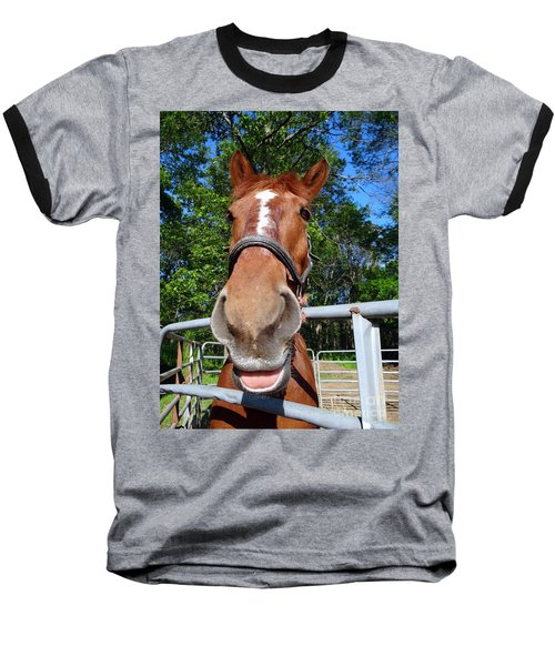 Baseball T-Shirt featuring the photograph Smile by Ed Weidman