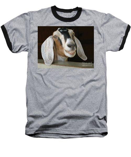 Smile Pretty Baseball T-Shirt by Ann Horn