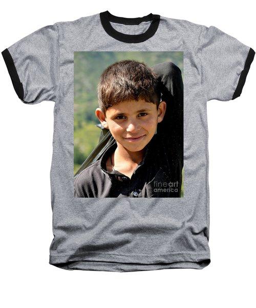 Smiling Boy In The Swat Valley - Pakistan Baseball T-Shirt