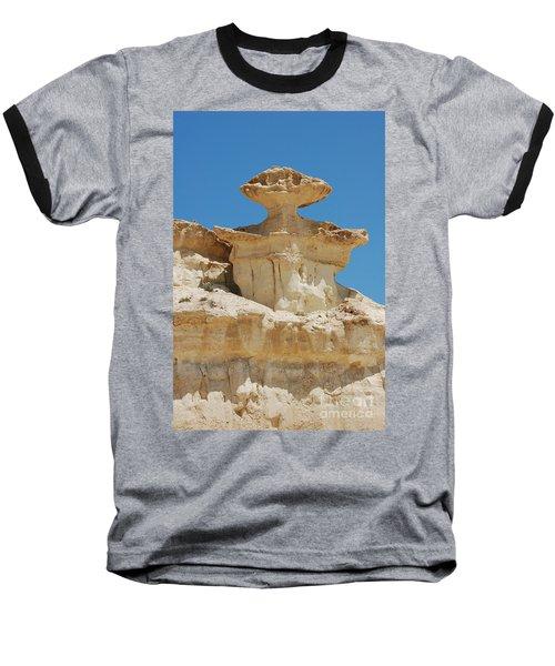 Smiling Stone Man Baseball T-Shirt