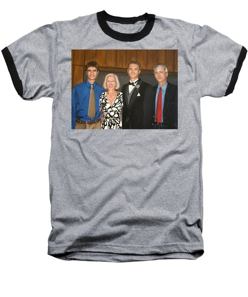 Smith Family Portrait Baseball T-Shirt
