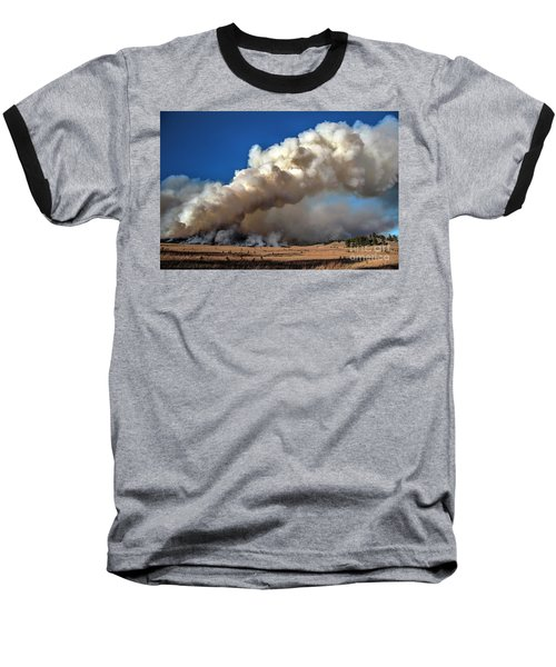 Smoke Column From The Norbeck Prescribed Fire. Baseball T-Shirt