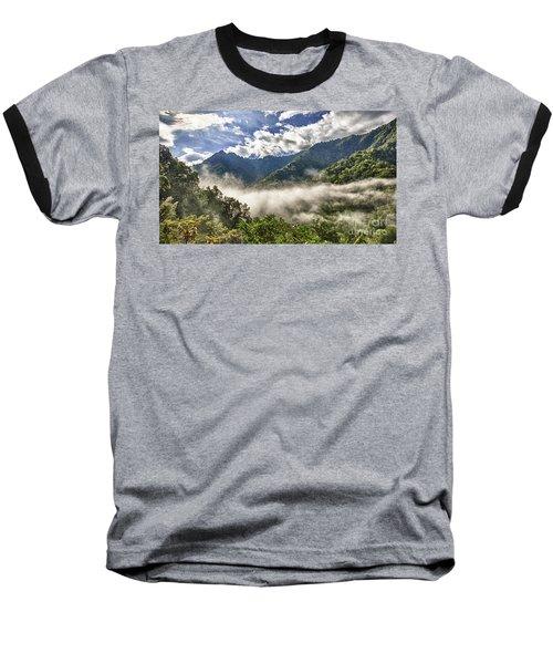 Smoky Mountain Chimney Tops Baseball T-Shirt