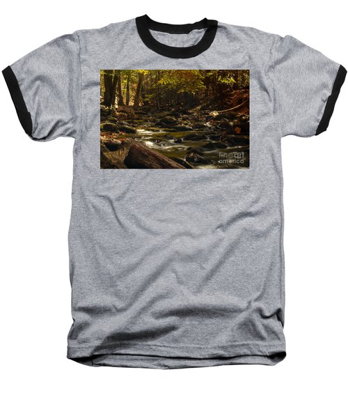 Smoky Mountain Stream Baseball T-Shirt