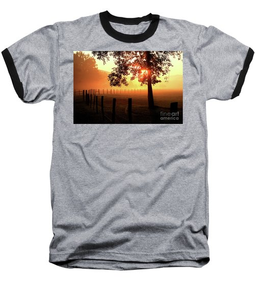 Smoky Mountain Sunrise Baseball T-Shirt by Douglas Stucky