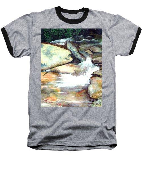 Smoky Mountains Waterfall Baseball T-Shirt