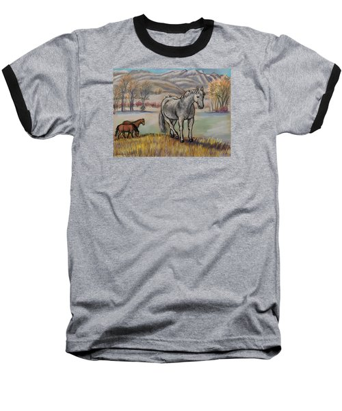 Smoky The Mustang -- In Honor Baseball T-Shirt by Dawn Senior-Trask