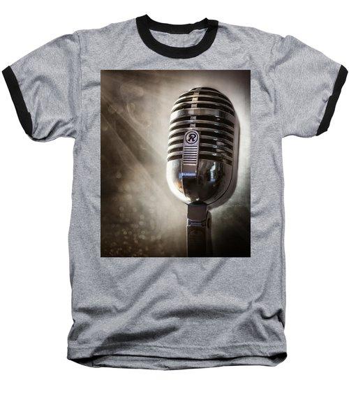 Smoky Vintage Microphone Baseball T-Shirt