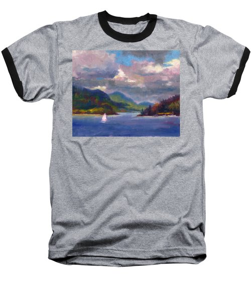 Smooth Sailing Sailboat On Alaska Inside Passage Baseball T-Shirt