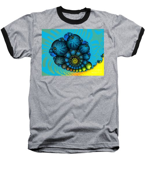 Snail Mail-fractal Art Baseball T-Shirt by Karin Kuhlmann