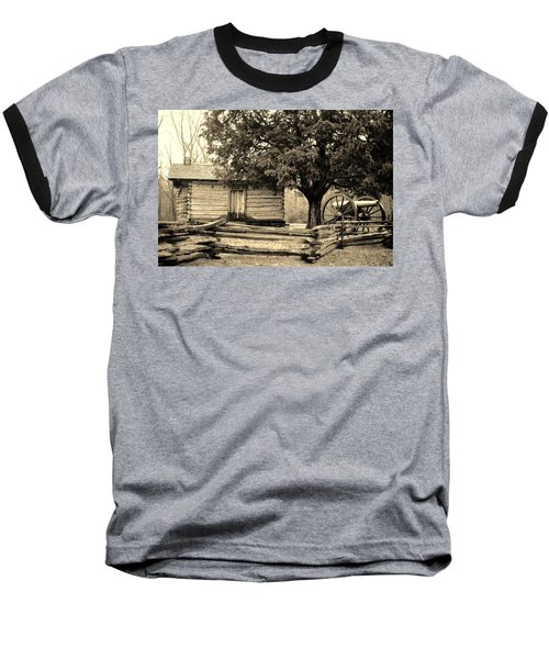 Snodgrass Cabin And Cannon Baseball T-Shirt by Daniel Thompson