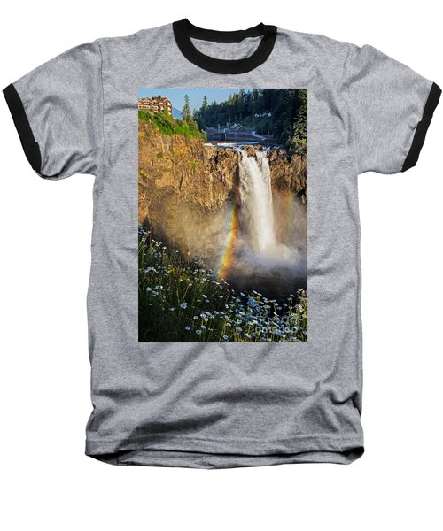 Snoqualmie Falls  Baseball T-Shirt