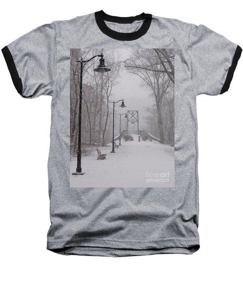 Snow At Bulls Island - 05 Baseball T-Shirt