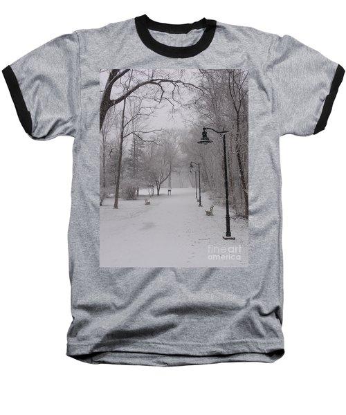 Snow At Bulls Island - 29 Baseball T-Shirt
