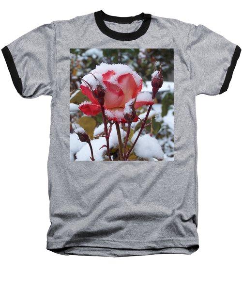 Snow Blooms Baseball T-Shirt