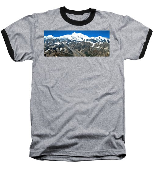 Snow Capped Canyon Baseball T-Shirt by Bruce Nutting