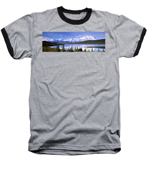 Snow Covered Mountains, Mountain Range Baseball T-Shirt