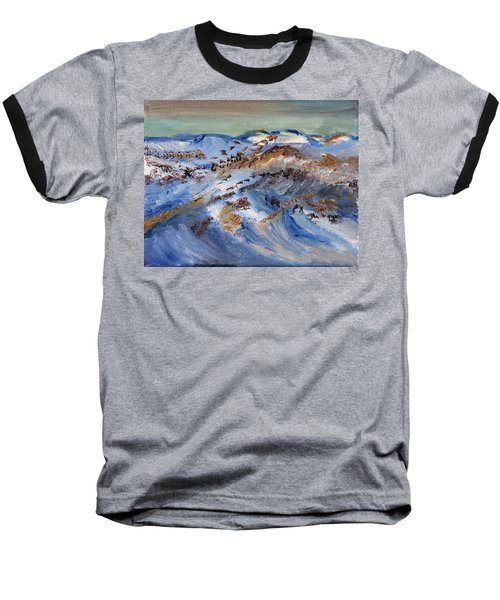 Snow Covered Sand Dunes Of Cape Cod Baseball T-Shirt