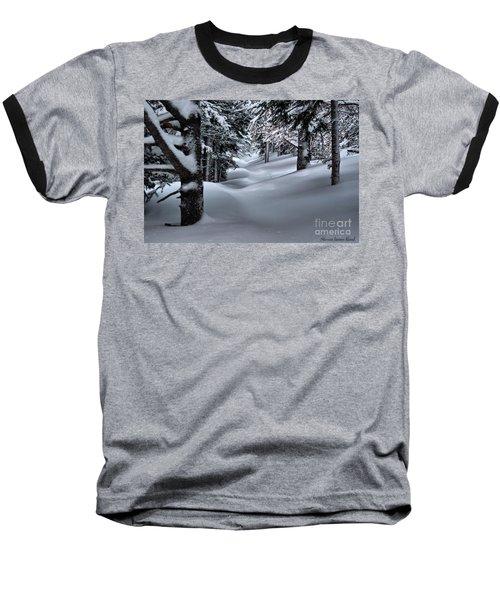 Snow Covered Trail Baseball T-Shirt