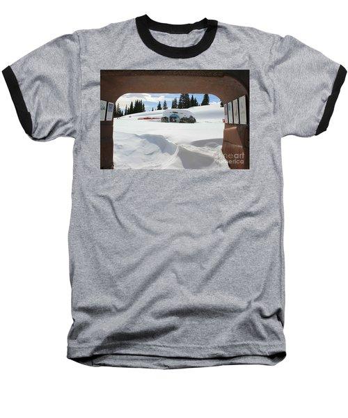 Baseball T-Shirt featuring the photograph Snow Daze by Fiona Kennard