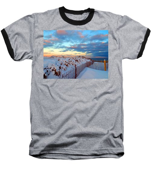 Snow Dunes At Sunrise Baseball T-Shirt