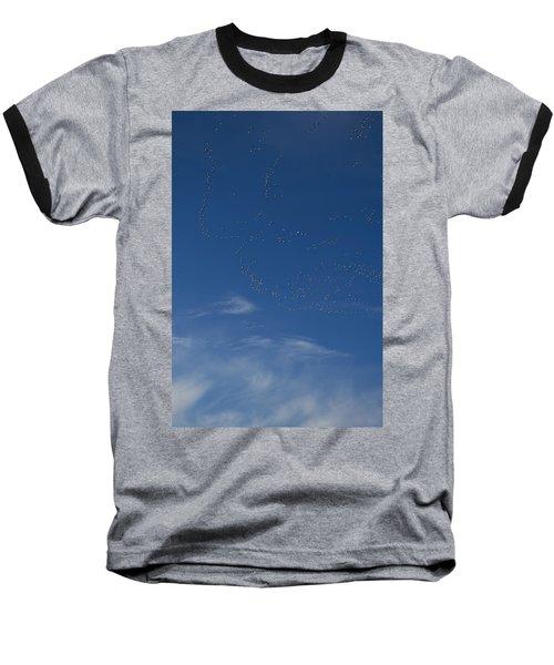 Snow Geese In Flight Baseball T-Shirt