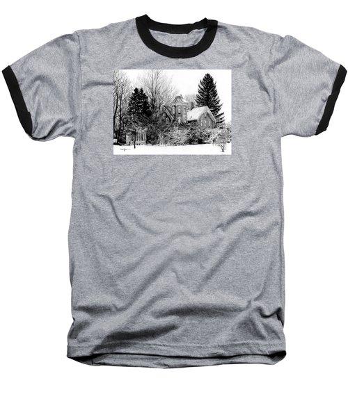 Da196 Snow House By Daniel Adams Baseball T-Shirt