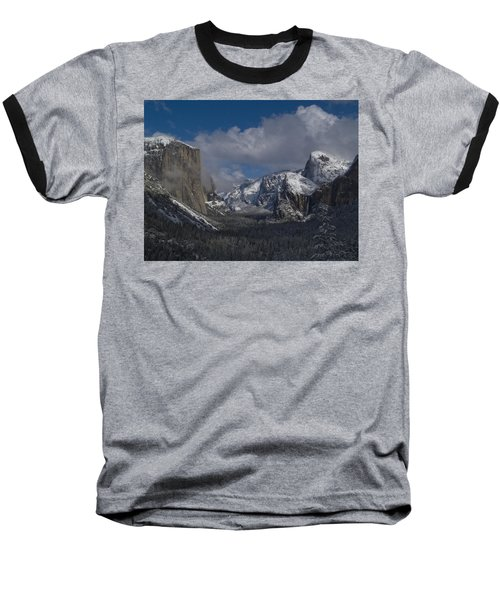 Snow Kissed Valley Baseball T-Shirt by Bill Gallagher