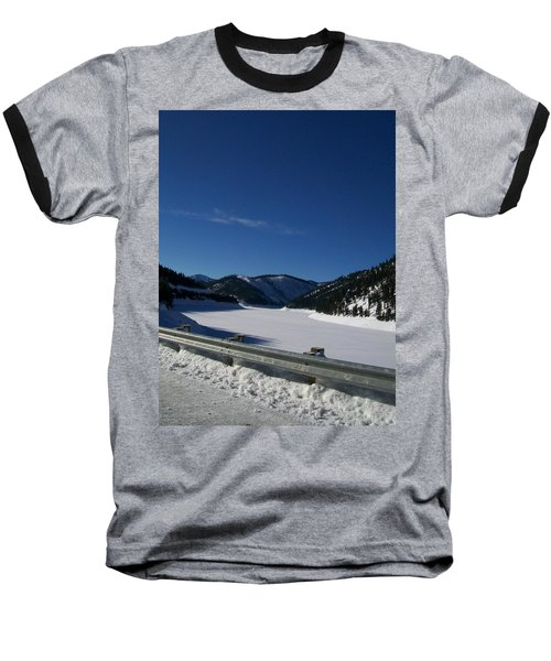 Snow Lake Baseball T-Shirt by Jewel Hengen