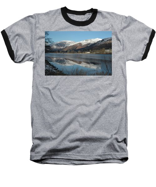 Snow Lake Reflections Baseball T-Shirt