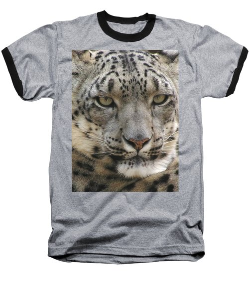 Baseball T-Shirt featuring the photograph Snow Leopard by Diane Alexander