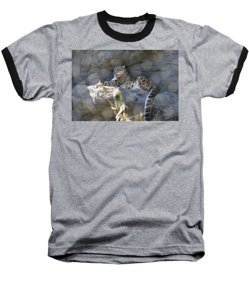 Snow Leopard    No.2 Baseball T-Shirt