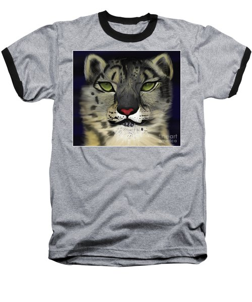 Snow Leopard - The Eyes Have It Baseball T-Shirt