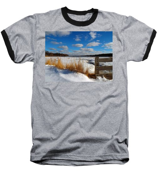 Snow Marsh Baseball T-Shirt by Dianne Cowen