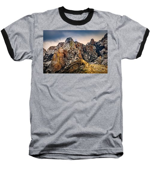 Baseball T-Shirt featuring the photograph Snow On Peaks 45 by Mark Myhaver